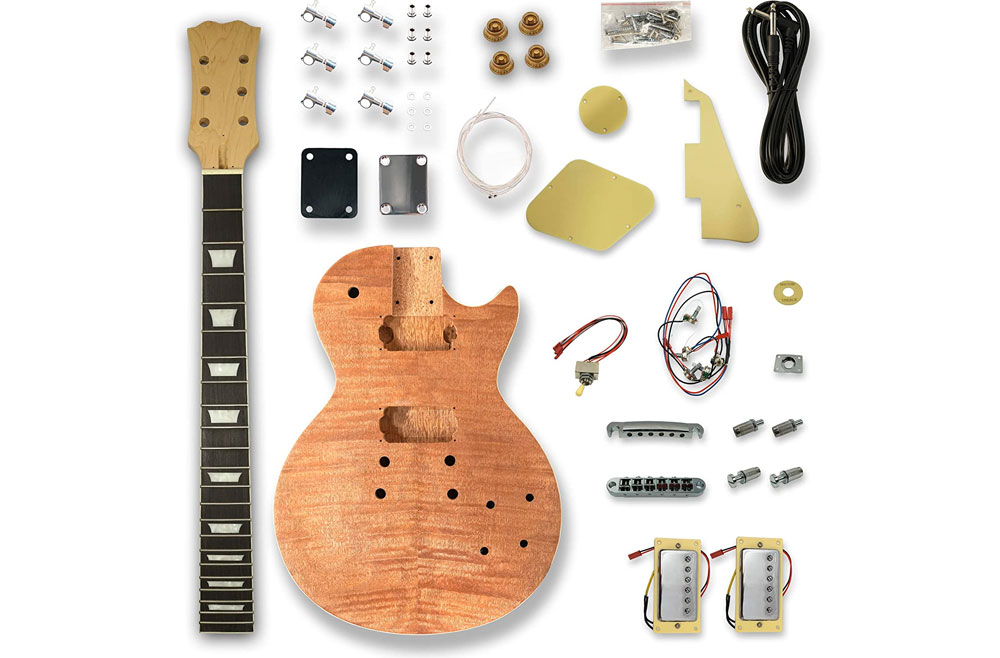 Gibson Les Paul Guitar Kit with Okoumbe body and Maple neck