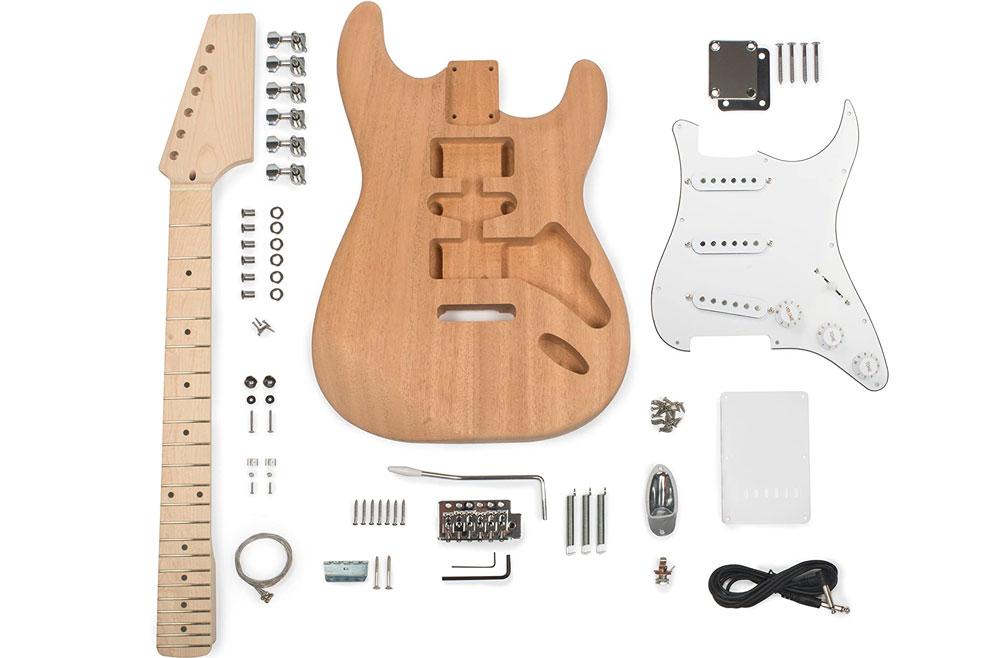 A Fender Stratocaster guitar kit made by Stewart MacDonald