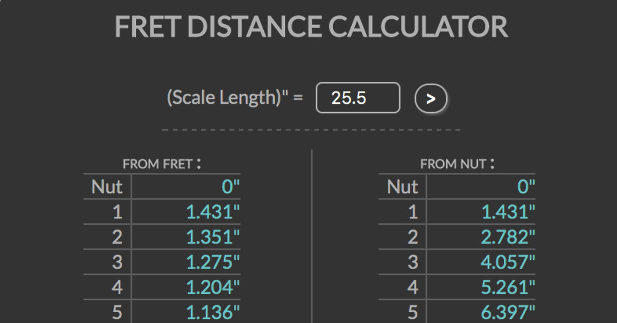 Fret Distance Calculator