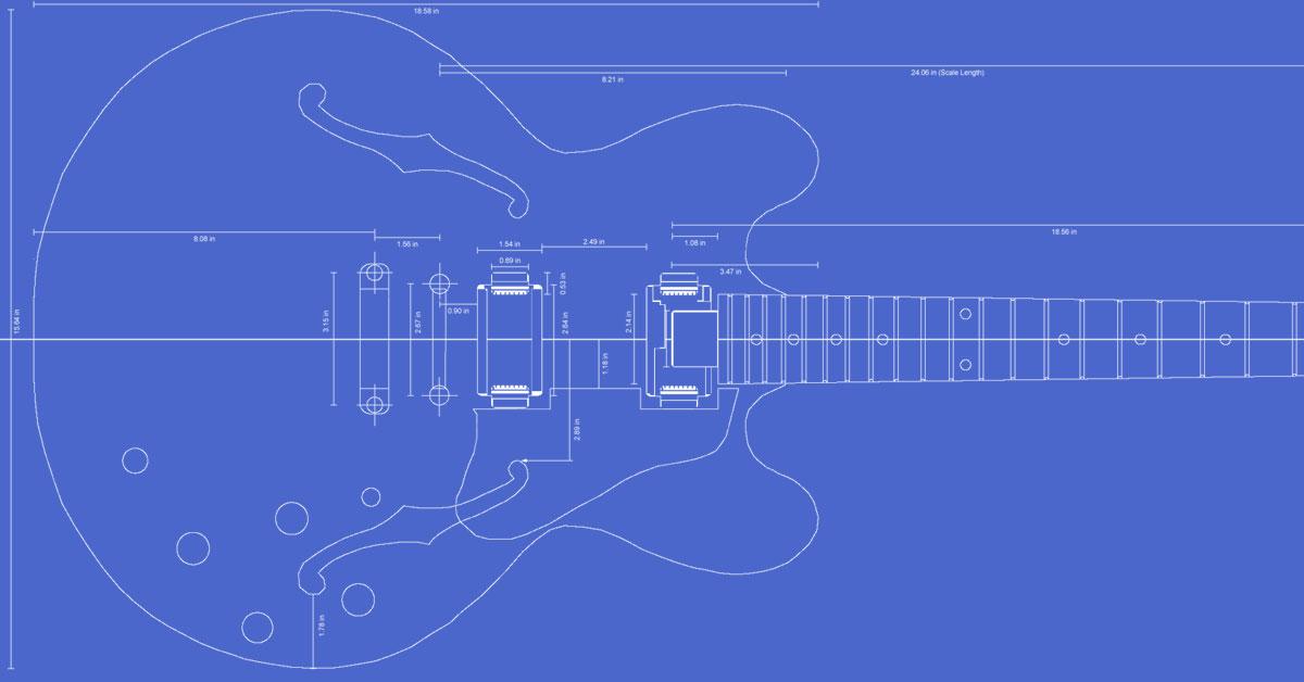 Gibson ES-335 Guitar Templates