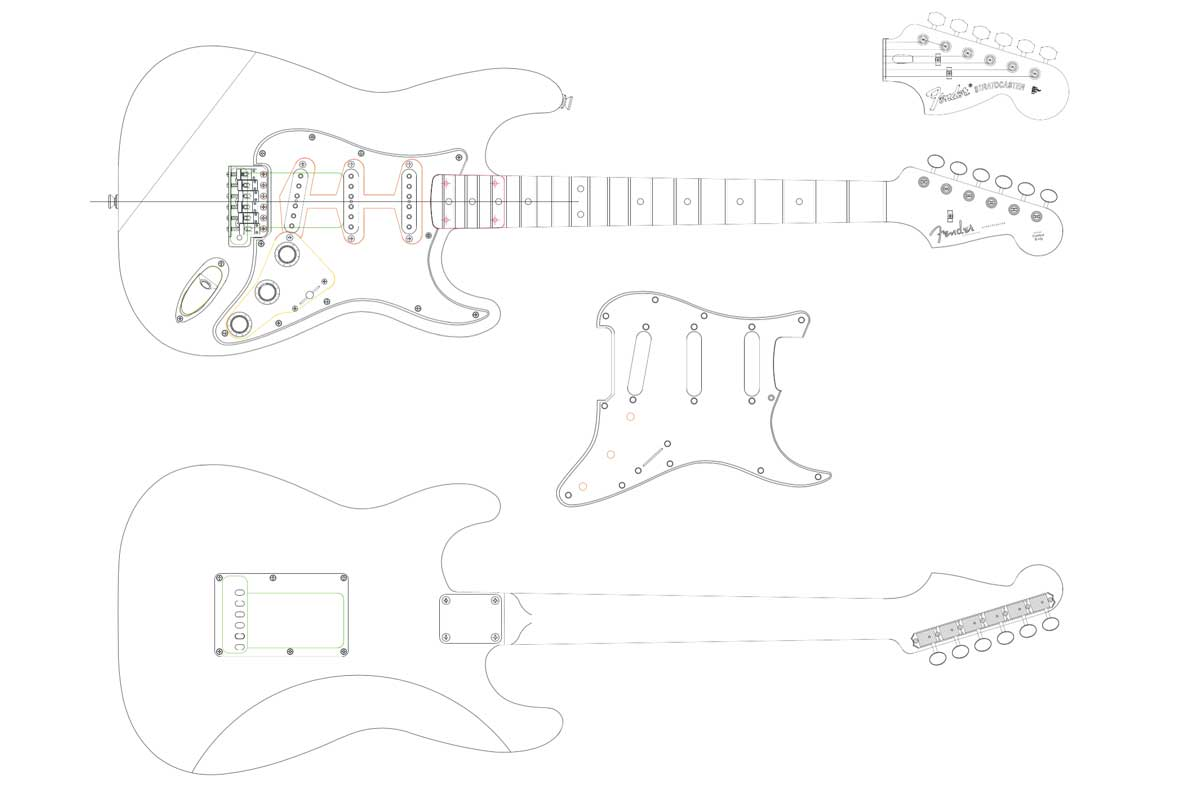 attractive fender telecaster template image collection