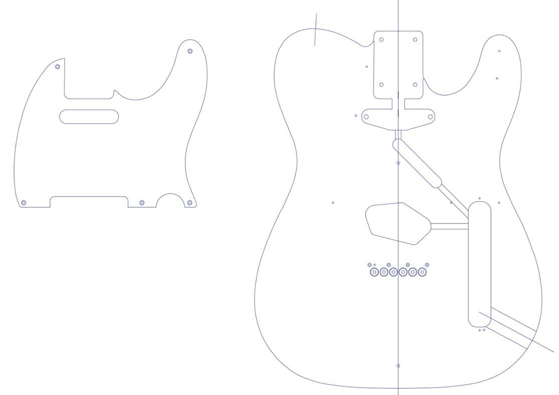 Fender Telecaster Guitar Templates | Electric Herald