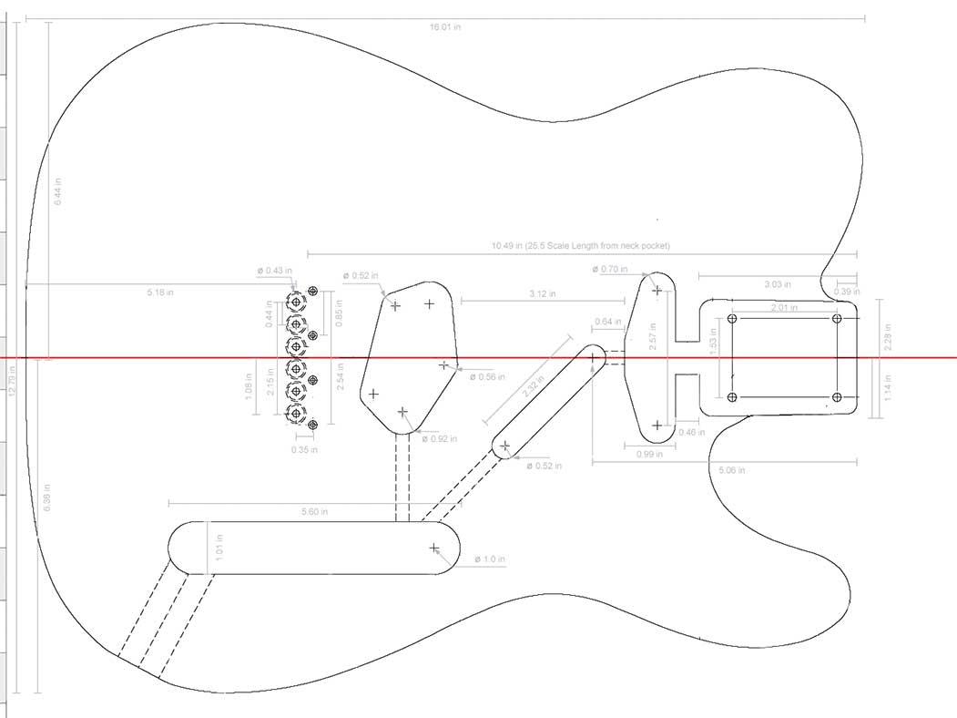 Outline guitar telecaster pictures to pin on pinterest for Bass guitar body templates