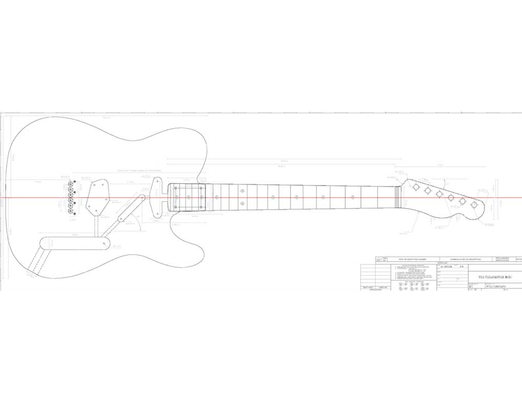 graphic regarding Printable Guitar Templates titled Fender Telecaster Guitar Templates Electric powered Herald