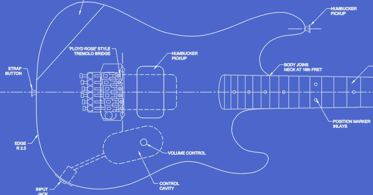 Charvel EVH 5150 Guitar Templates
