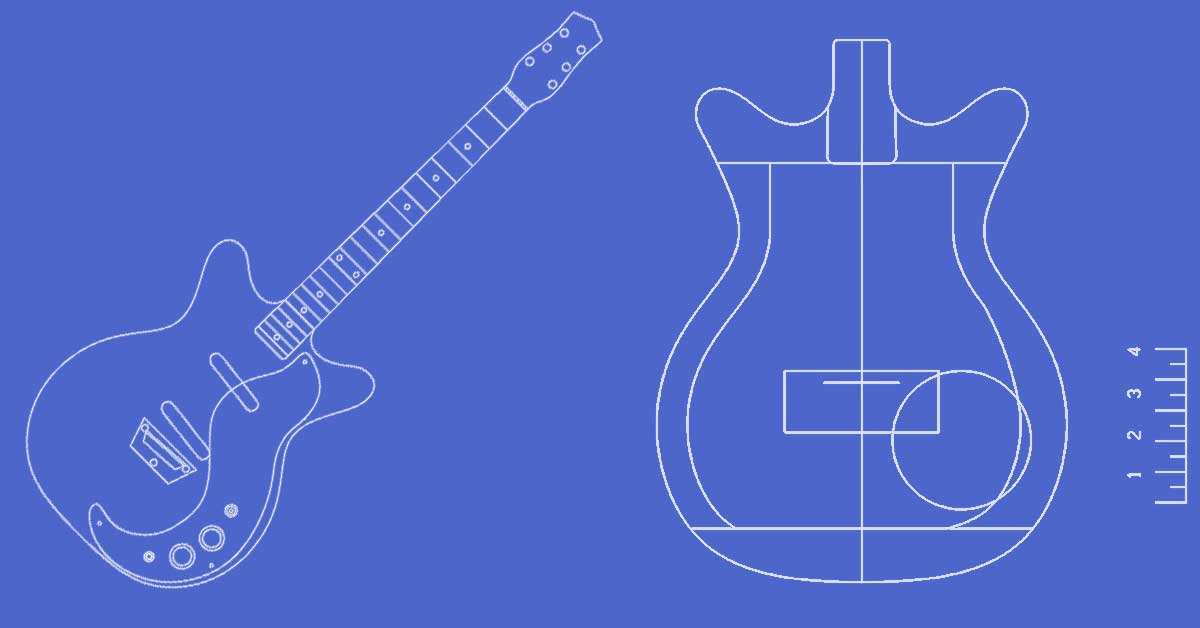 Guitar Template | Guitar Templates Archive Electric Herald