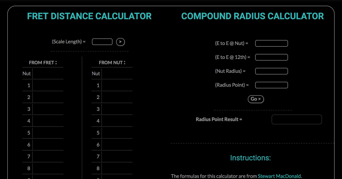 Compound Radius Calculator