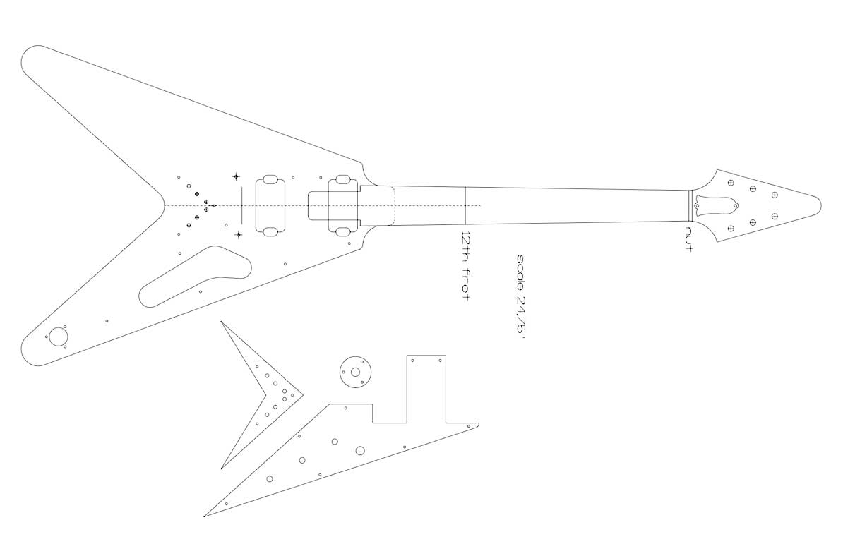 Dean Guitar Wiring Free Diagram For You Bass 58 Gibson Flying V Controls Vendetta
