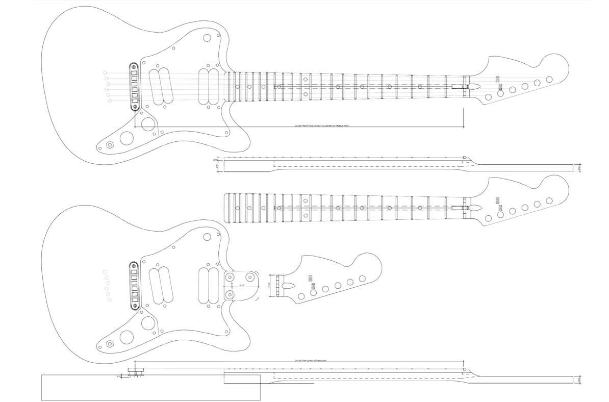Squier Supersonic Hypersonic Guitar Template Electric Herald
