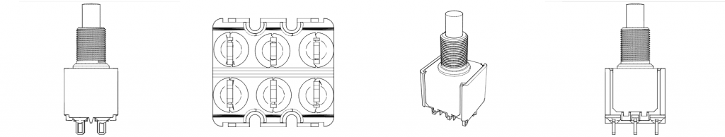 A DPDT Electrical Component Push-Button
