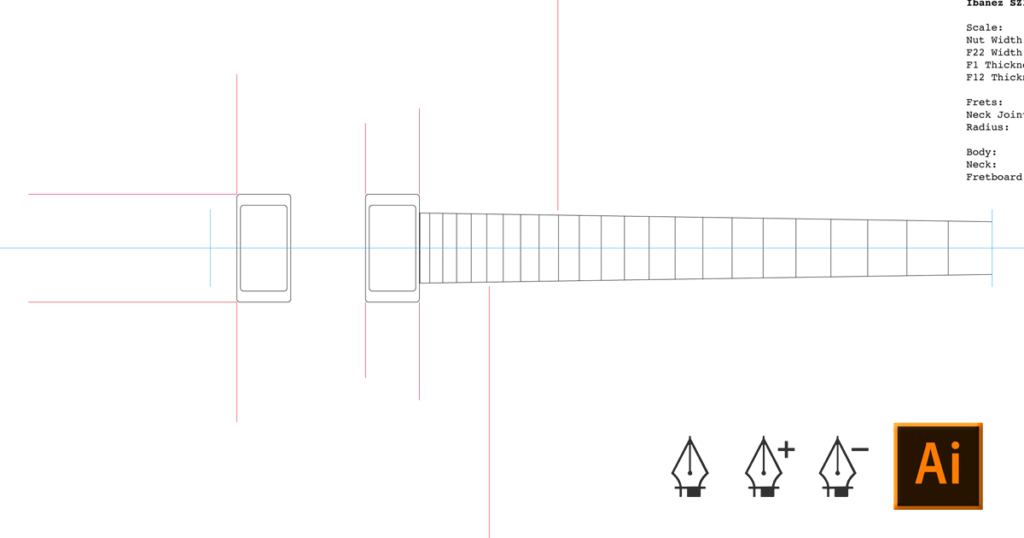 How To Draw A Guitar Template Adobe Illustrator Electric Herald