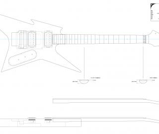 Guitar DXF - BC Rich Ironbird