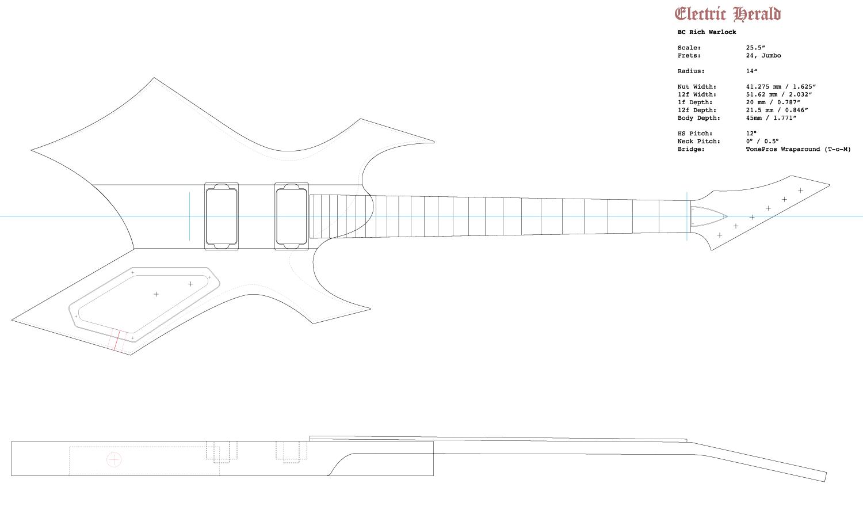 Guitar DXF - BC Rich Warlock
