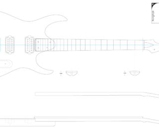 Guitar DXF - Blackmachine B6