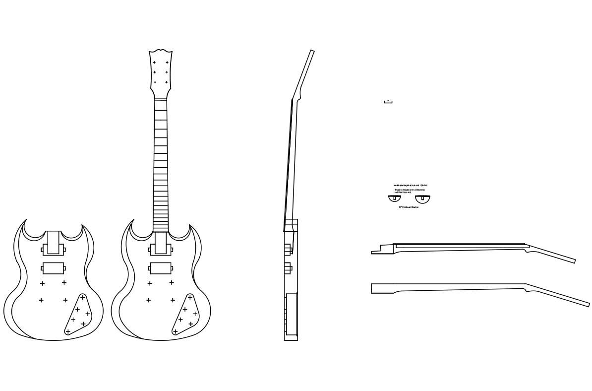 gibson sg custom guitar templates