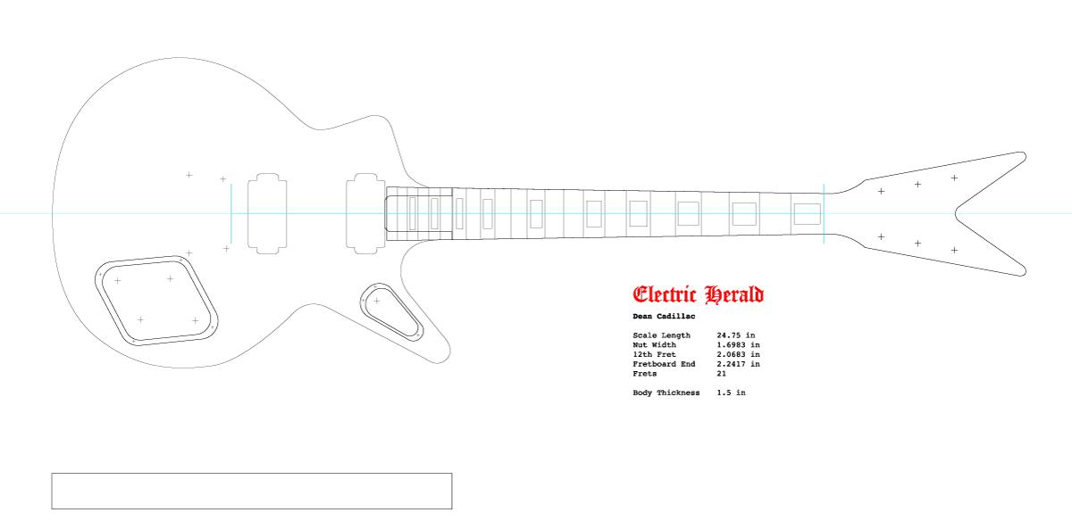 Guitar DXF - Dean Cadillac