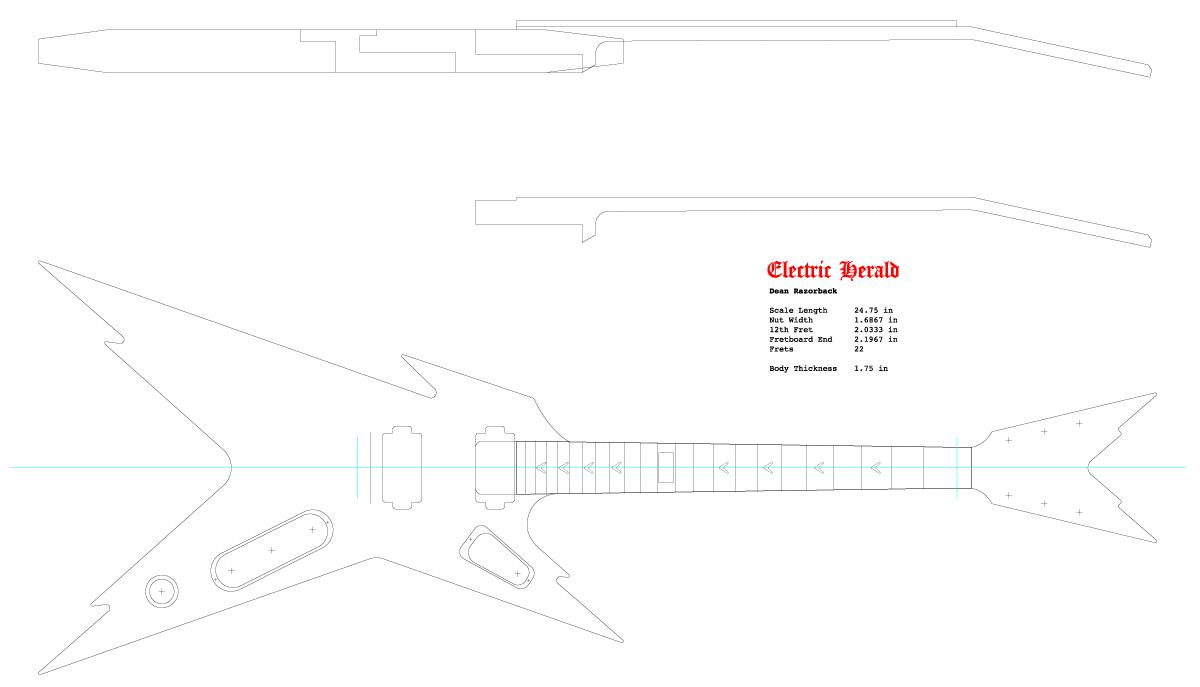 Guitar DXF - Dean Razorback
