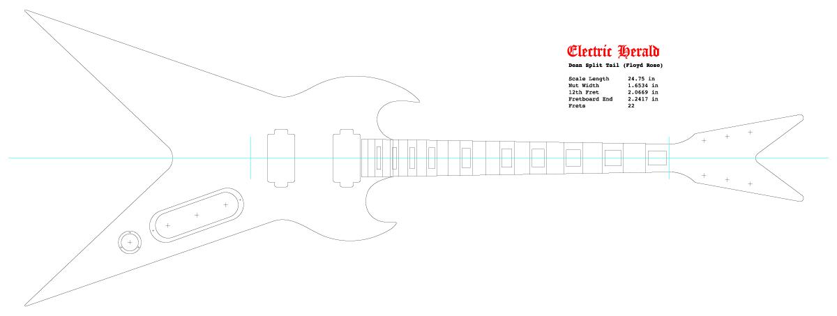 Guitar DXF - Dean SplitTail