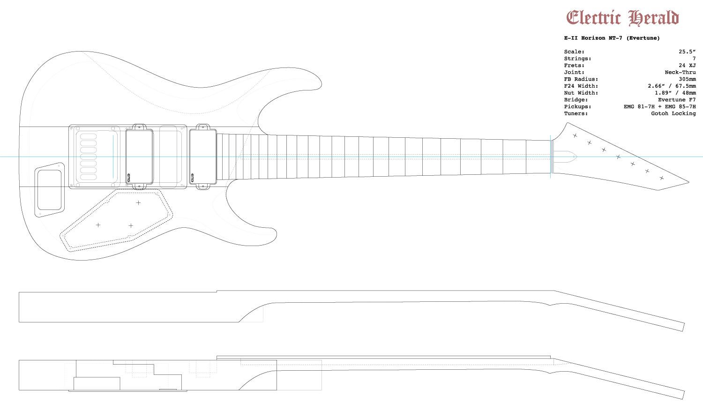 Guitar DXF - ESP E-II Horizon NT-7