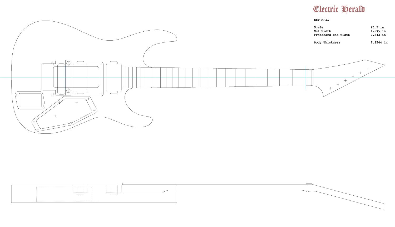 Guitar DXF - ESP M-II