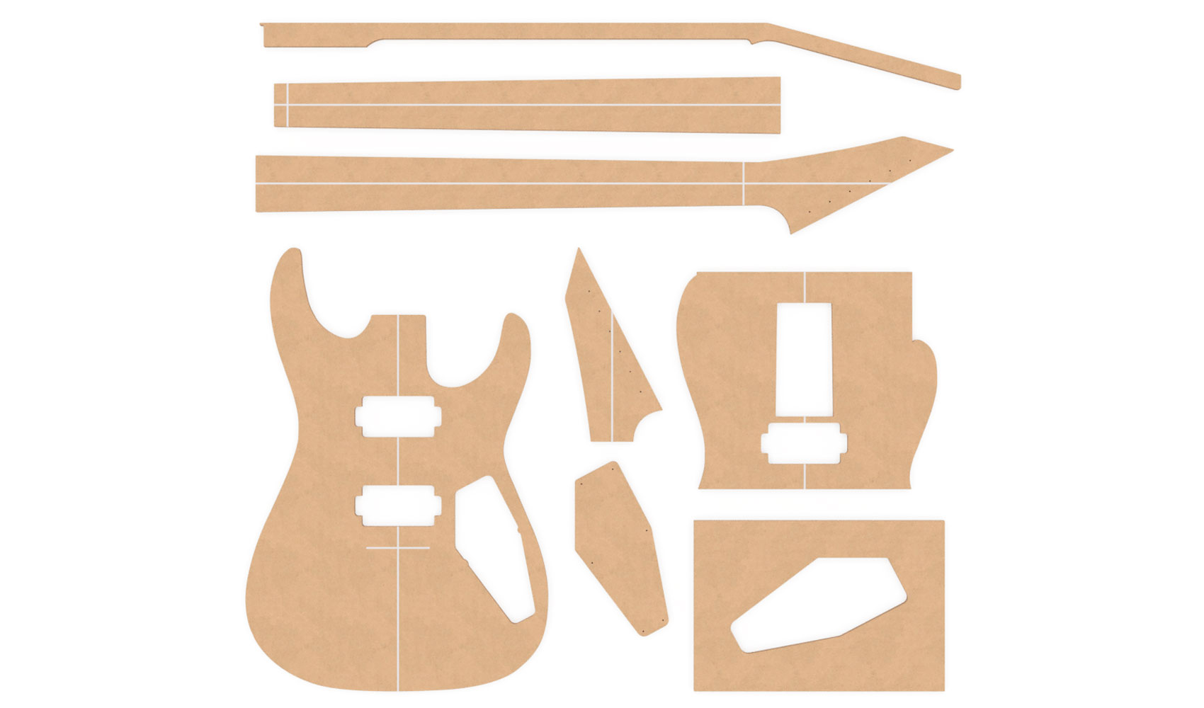old fashioned floyd rose routing template image