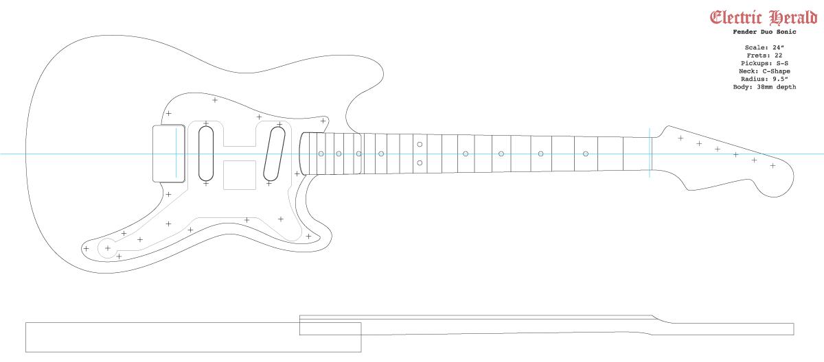 Guitar DXF - Fender Duo Sonic II