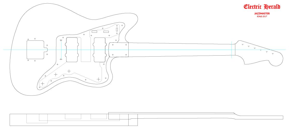 Guitar DXF - Fender Jazzmaster