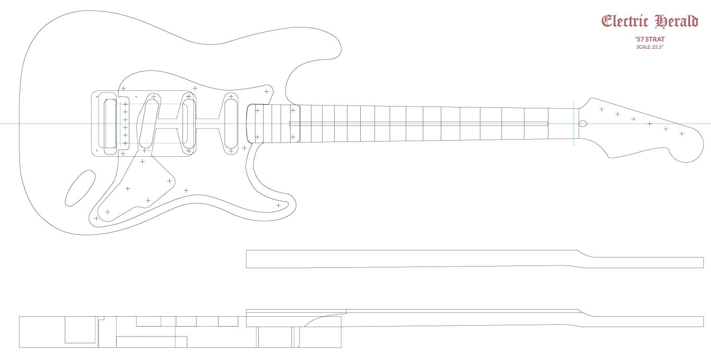 Guitar DXF - Fender Stratocaster ('57)