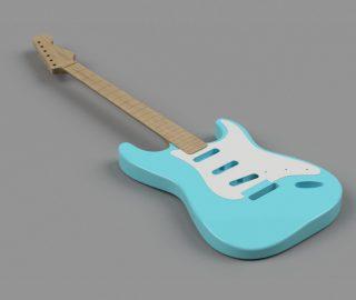 CAD Guitar Model - Fender Stratocaster (1958)