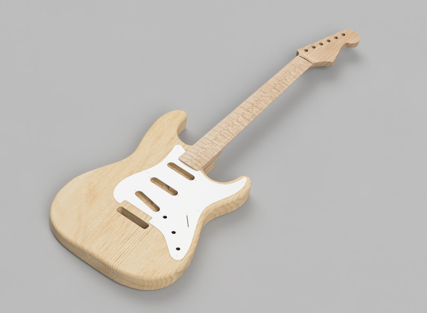 CAD Guitar Model - Fender Stratocaster (1958)