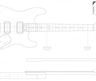 Guitar DXF - Fender Superstrat (H-H, 24-fret)