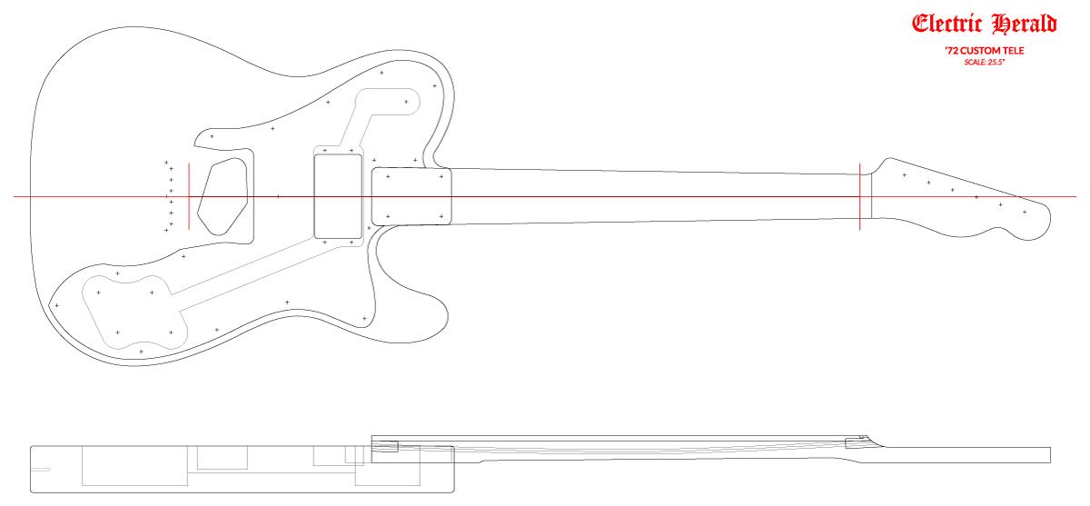 Guitar DXF - Fender Telecaster ('72 Custom)