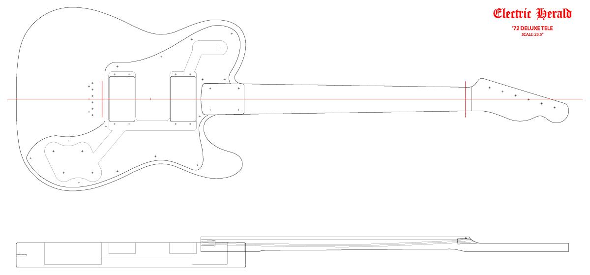 Guitar DXF - Fender Telecaster ('72 Deluxe)