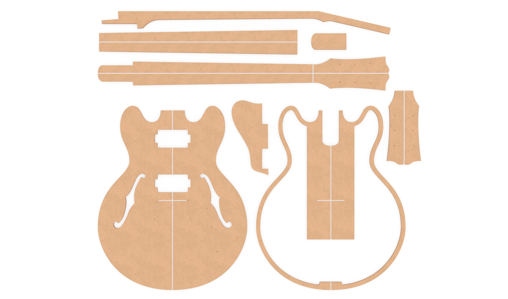 Gibson ES-339 Router Templates