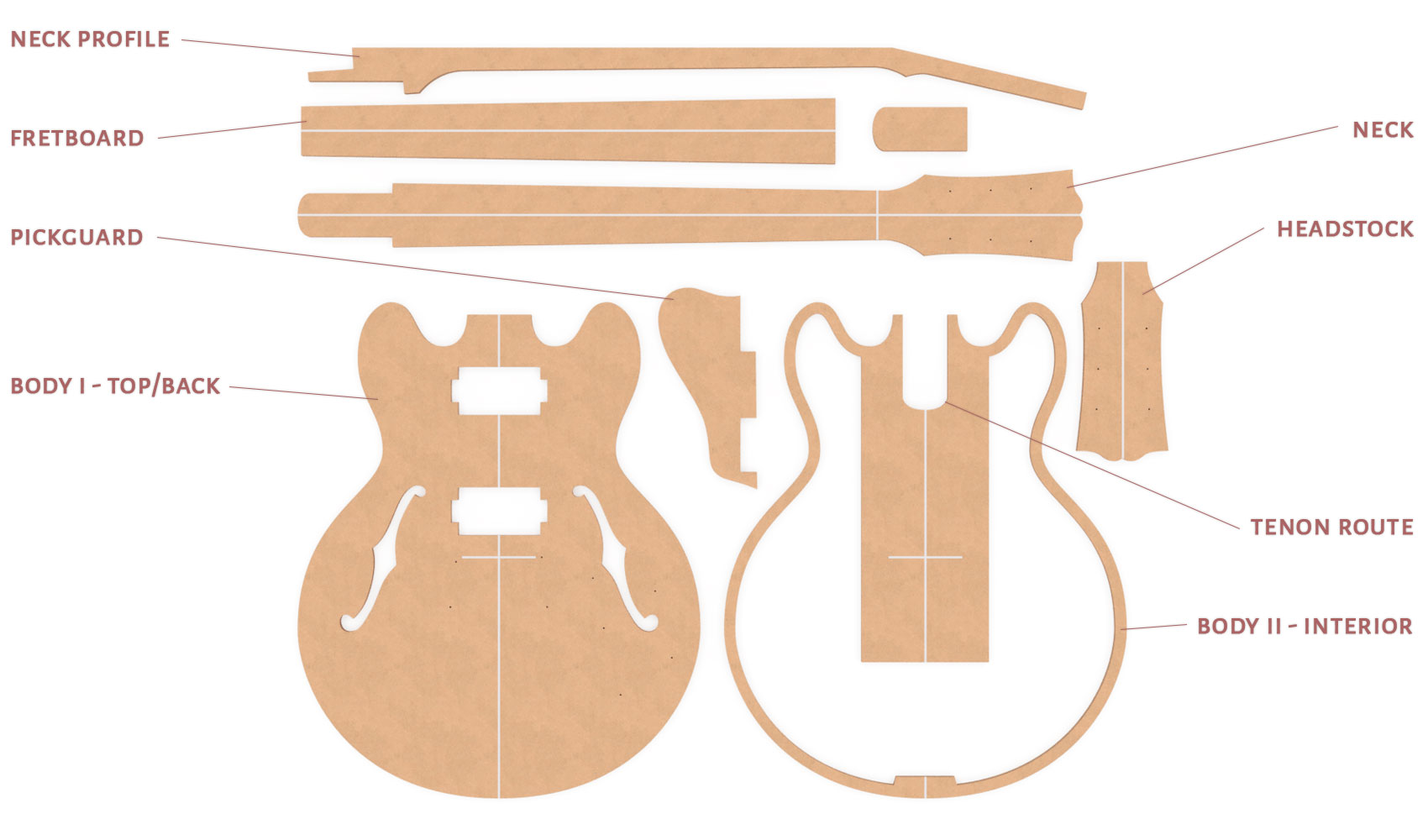 Gibson ES 339 Router Templates