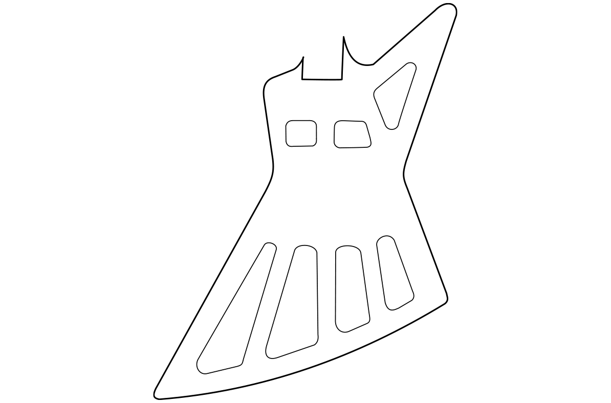 Gibson Explorer Holy This Is The Body Template