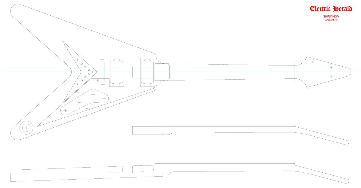 Guitar DXF - Gibson Flying V ('58)