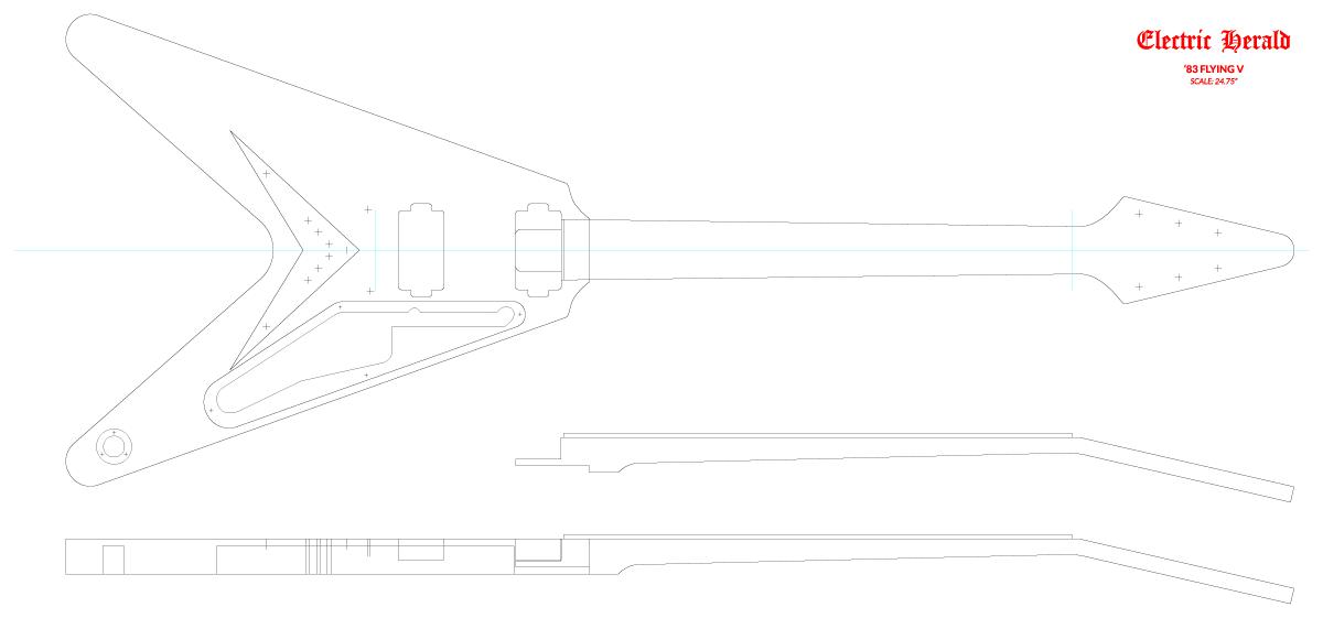 Guitar DXF - Gibson Flying V ('83)