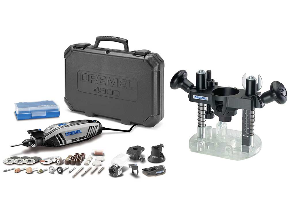 Dremel 4300 router kit with plunge base product.