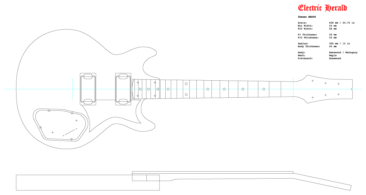 Guitar DXF - Ibanez GAX30