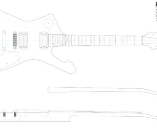 Guitar DXF - Ibanez Iceman (IC520)