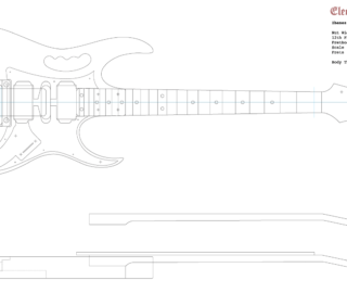 Guitar DXF - Ibanez JEM (Square Pocket)