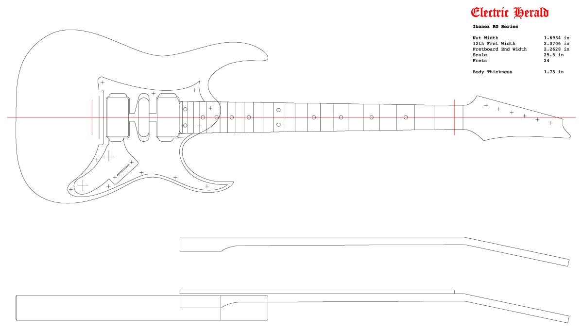 Guitar DXF - Ibanez RG 550
