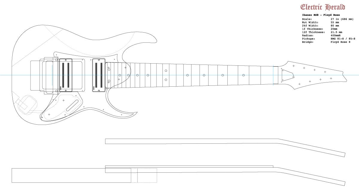 Guitar DXF - Ibanez RG-8