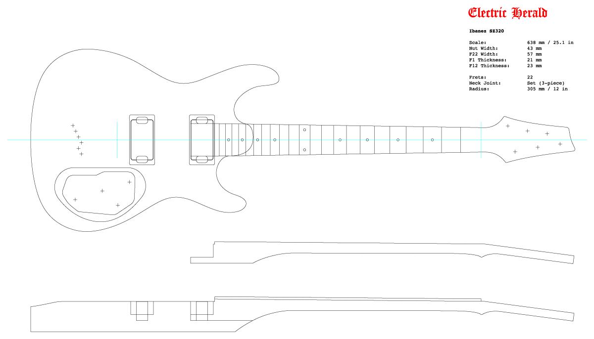 Guitar DXF - Ibanez SZ-320