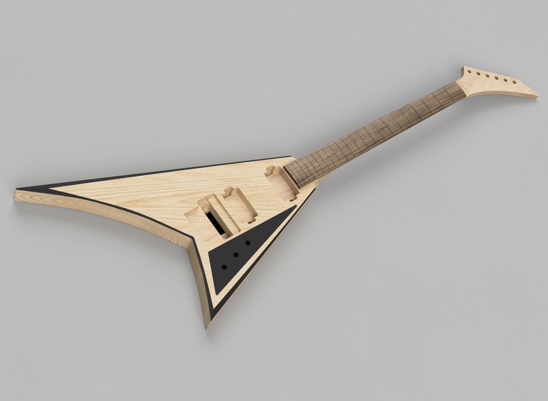 CAD Guitar Model - Jackson Rhoads V JS32