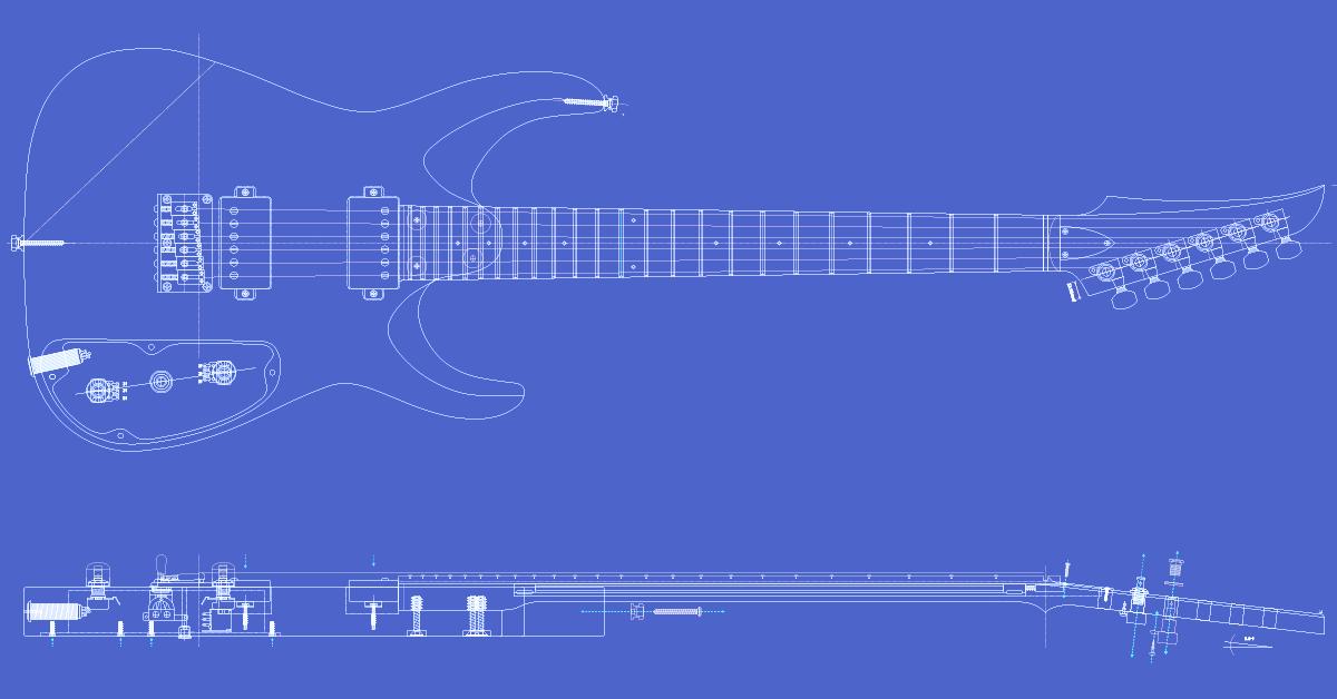 Msk Guitars Mk1hh24 Model Blueprint