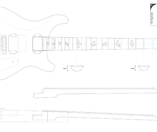 Guitar DXF - PRS Custom 22