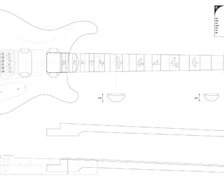 Guitar DXF - PRS Custom 24