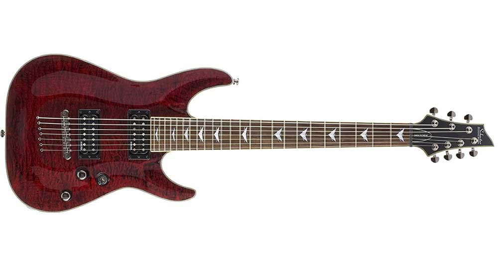 The Schecter Omen Extreme 7-String Model Guitar